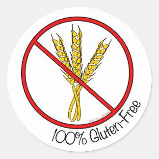 "Pegatinas Gluten-Libres del ""100%"" (pequeños) Etiquetas Redondas"