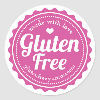 Pegatinas Gluten-Libres - hechos con amor Pegatina Redonda