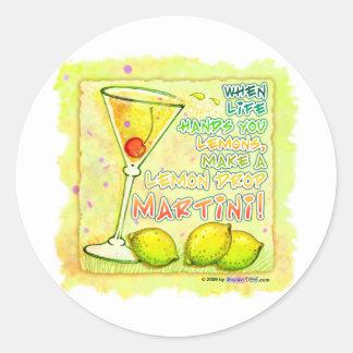 Pegatinas - gota de limón Martini