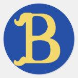 Pegatinas grandes cones monograma con la letra B