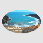 Pegatinas grandes de Hawaii de la isla de la playa