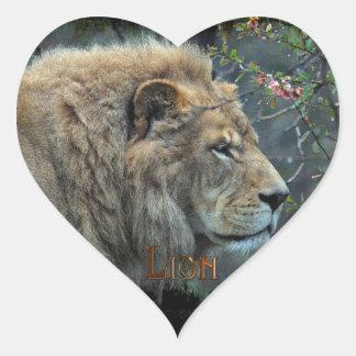 Pegatinas grandes de la fauna del gato grande del pegatina en forma de corazón