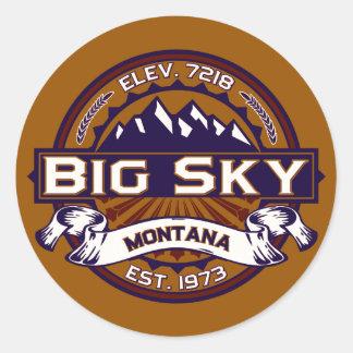 Pegatinas grandes del logotipo del cielo pegatina redonda