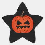 Pegatinas gruñones de la estrella de Halloween de Calcomanías Forma De Estrella Personalizadas