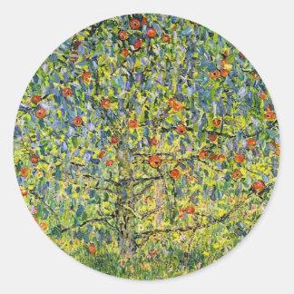 Pegatinas Gustavo Klimt del arte que pinta el Pegatinas Redondas