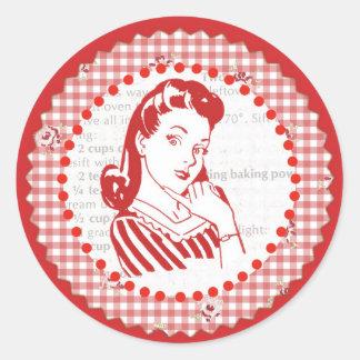 Pegatinas hábiles del galón de los años 50 etiquetas redondas