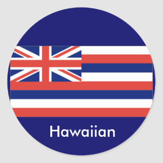 Pegatinas hawaianos de la bandera pegatinas redondas