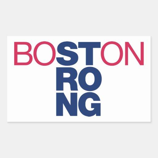 Pegatinas Helvéticas fuertes de Boston Pegatina Rectangular