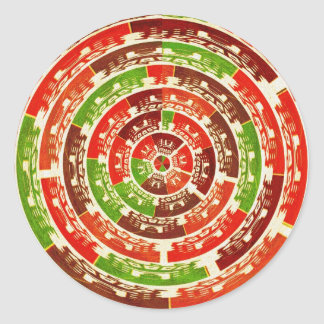 Pegatinas hermosos del papel de regalo - diseños pegatina redonda