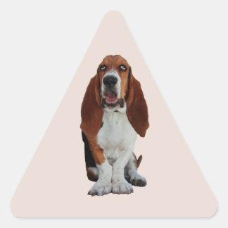 Pegatinas hermosos del perro de la foto del perro pegatina triangular