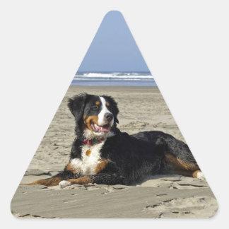 Pegatinas hermosos del triángulo del perro de pegatina triangular