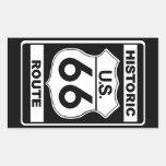 Pegatinas históricos de la ruta 66 rectangular pegatina