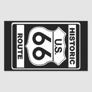 Pegatinas históricos de la ruta 66