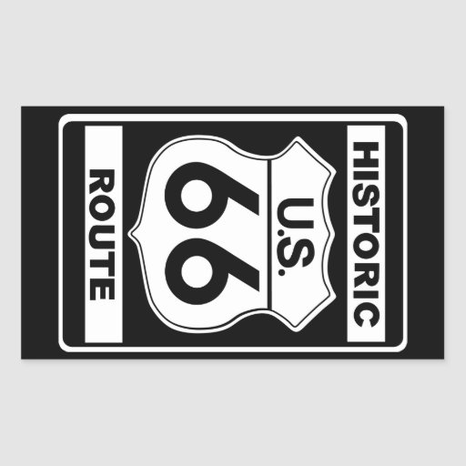 Pegatinas históricos de la ruta 66 pegatina rectangular