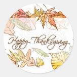 Pegatinas - hojas de otoño felices de la acción de