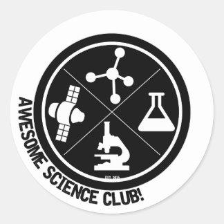 ¡Pegatinas impresionantes del club de la ciencia! Pegatina Redonda
