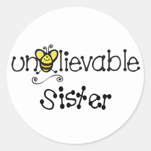Pegatinas increíbles de la hermana pegatina redonda