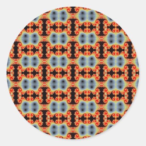 Pegatinas infinitos del mosaico etiquetas redondas