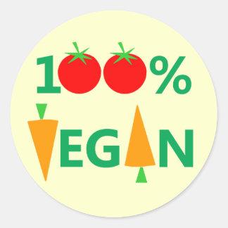 Pegatinas ingeniosos 100% del vegano para los pegatina redonda