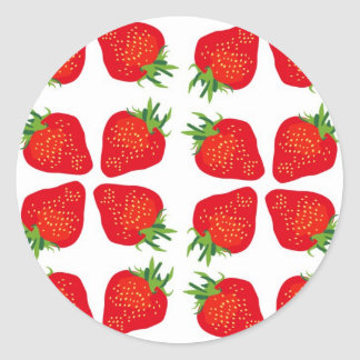 Pegatinas ingleses de las fresas pegatina redonda