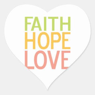 Pegatinas inspirados cristianos del amor de la esp