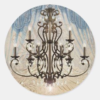 Pegatinas inspirados franceses elegantes de Tres Pegatina Redonda