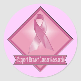 Pegatinas - investigación del cáncer de pecho de pegatina redonda