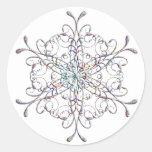 Pegatinas iridiscentes del copo de nieve