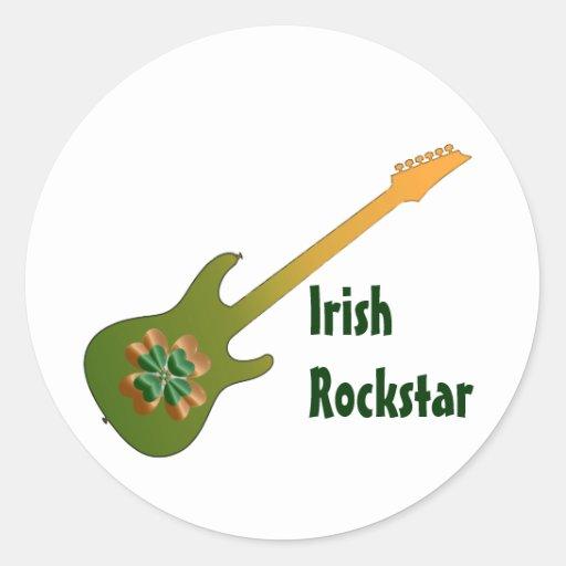 Pegatinas irlandeses de la estrella del rock