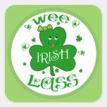 Pegatinas irlandeses del trébol de St Patrick Pegatina Cuadrada
