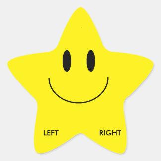 Pegatinas izquierdos/adecuados del zapato pegatina en forma de estrella