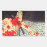 Pegatinas japoneses del samurai del vintage rectangular altavoces