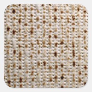 Pegatinas judíos cuadrados del Matzo Pegatina Cuadrada