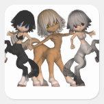 Pegatinas juguetones de los Centaurs Colcomanias Cuadradass