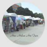 Pegatinas justos del arte de Ann Arbor Etiqueta Redonda