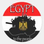 Pegatinas libres de Egipto Etiqueta Redonda