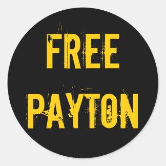 Pegatinas libres de Payton Pegatina Redonda