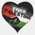 Pegatinas libres del corazón de Palestina Pegatina Corazon
