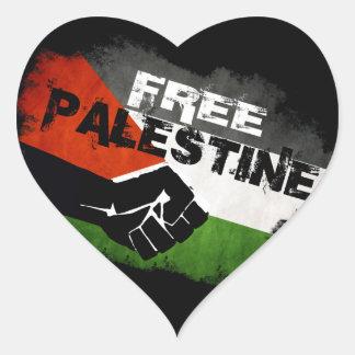 Pegatinas libres del corazón de Palestina Pegatina En Forma De Corazón