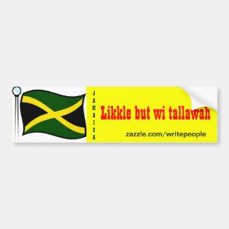 Pegatinas-likkle de parachoques jamaicanos pero ta pegatina para auto