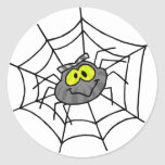 Pegatinas lindos de la araña pegatina redonda
