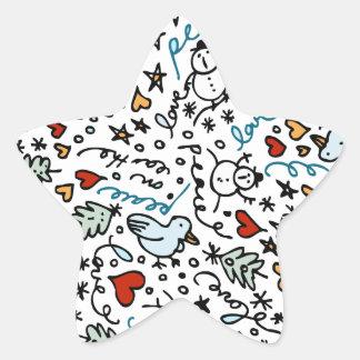Pegatinas lindos de la estrella del amor del calcomanías forma de estrella