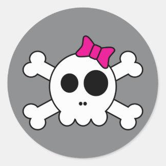 Pegatinas lindos de Skully
