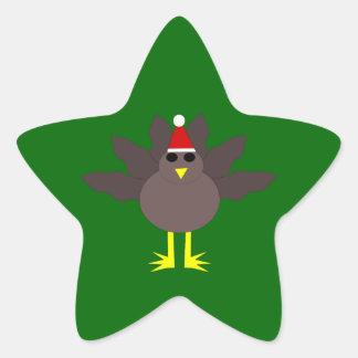 Pegatinas lindos de Turquía del navidad Pegatina En Forma De Estrella