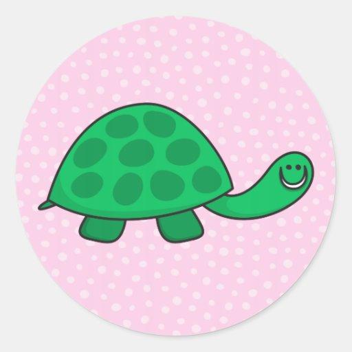 Pegatinas lindos del animal del dibujo animado de pegatina redonda