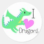 Pegatinas lindos del dragón