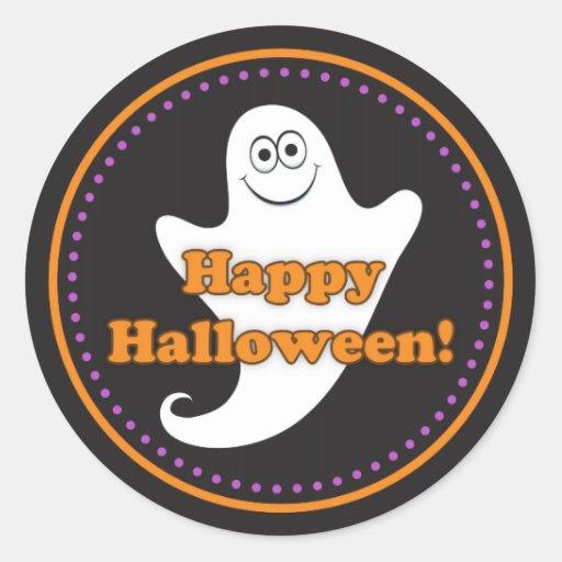 Pegatinas lindos del fantasma del feliz Halloween
