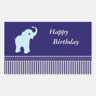 Pegatinas lindos del feliz cumpleaños de los pegatina rectangular