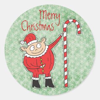 Pegatinas lindos del navidad pegatina redonda