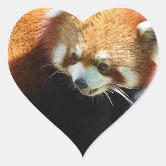 Pegatinas lindos del oso de panda roja pegatina en forma de corazón